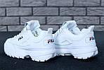 Зимние кроссовки FILA Disruptor 2 (белые), фото 7