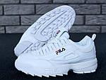 Зимние кроссовки FILA Disruptor 2 (белые), фото 9