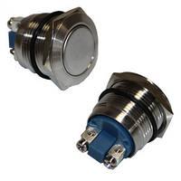 Кнопка железная 2 pin под болт 20А 220В GAV 371