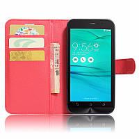 Чехол-книжка Litchie Wallet для Asus Zenfone Go (ZB500KG) Красный