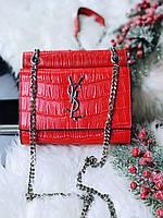 Чарівна жіноча сумочка SAINT LAURENT натуральна шкіра (репліка), фото 1
