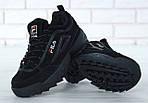 Зимние кроссовки FILA Disruptor 2 (черные), фото 9