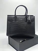 Класична жіноча сумка SAINT LAURENT Sac de Jour під кроко (репліка), фото 1