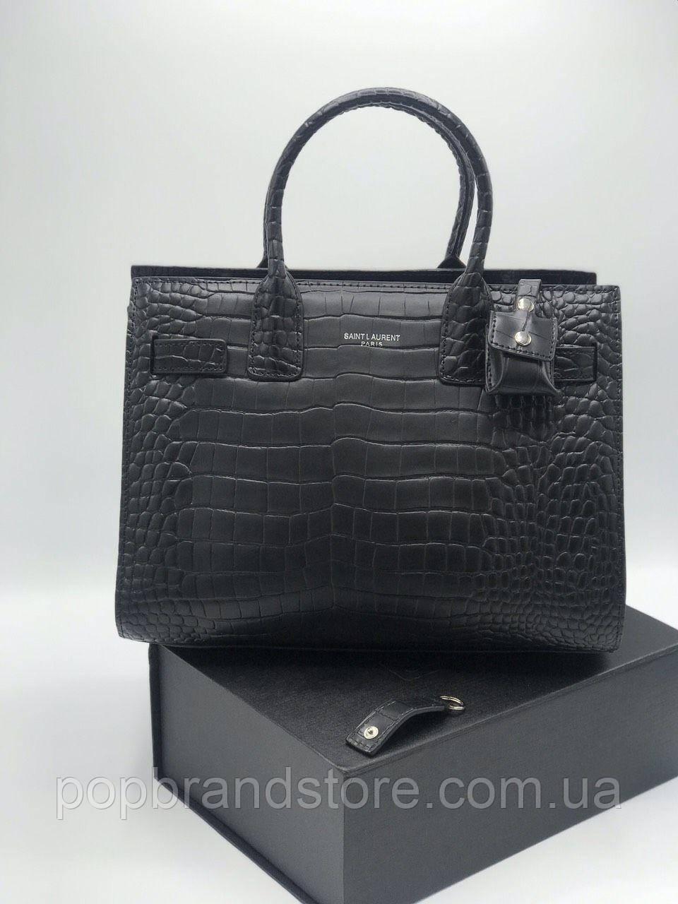 324607c5b6dc Классическая женская сумка SAINT LAURENT Sac de Jour под кроко (реплика) -  Pop Brand