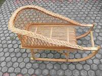 Плетеные санки из лозы
