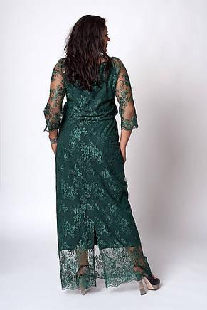 Шикарное длинное женское платье из гипюра 50-54, фото 3