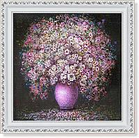Репродукция  современной картины «Розовый букет»