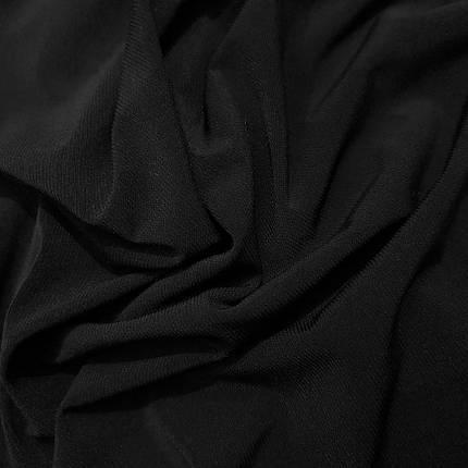 Трикотаж масло Kora черный, фото 2