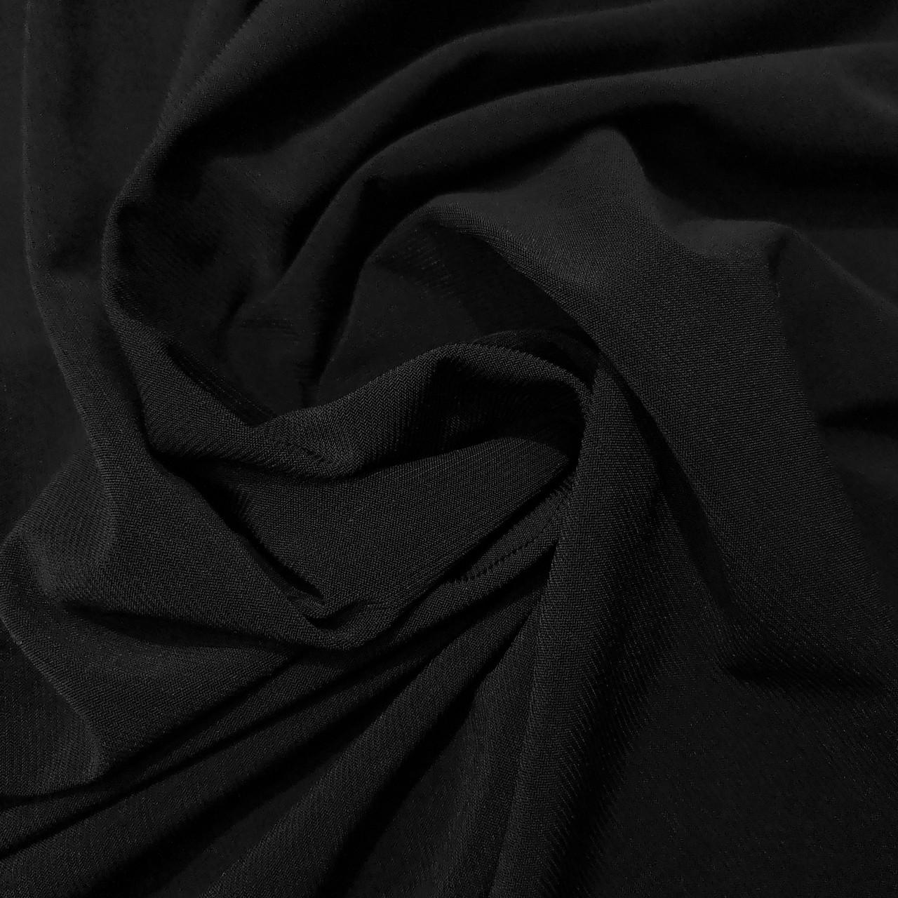 Трикотаж масло Kora черный