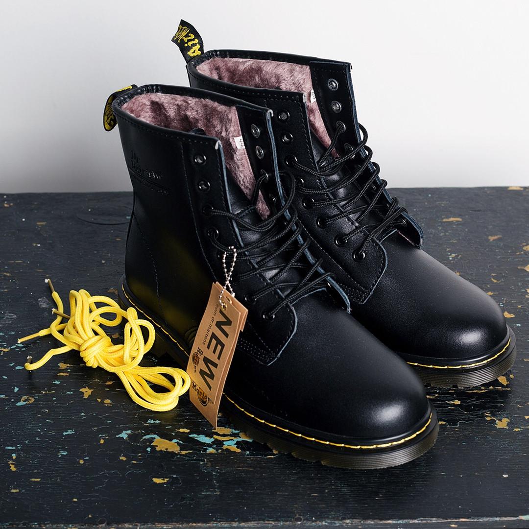 """Мужские зимние ботинки Dr.Martens """"Black""""  ( в стиле Мартинс )"""