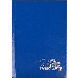 Ежедневник недатированный «Кожа» АНГЛ синий А5 160 л, фото 2