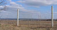 Сетка облегченная Казачка h=1,2 м, оцинкованная проволока Ø 2,0//2,5 мм забор для дачи, забор из сетки
