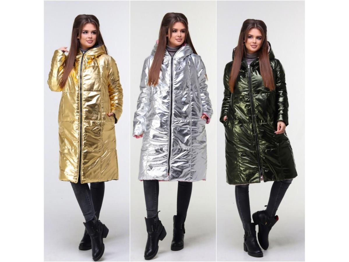 Стильное двустороннее женское пальто