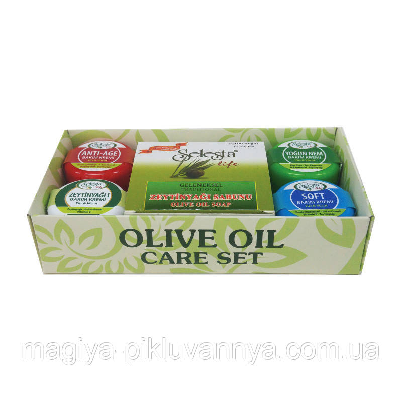 SELESTA life Набор мыло и крем (мыло с оливк.маслом, 4 крема для рук по 25 мл)