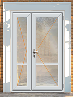 Двери металопластиковые полуторнуе