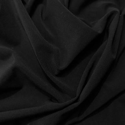 Трикотаж масло Kora Корея черный, фото 2
