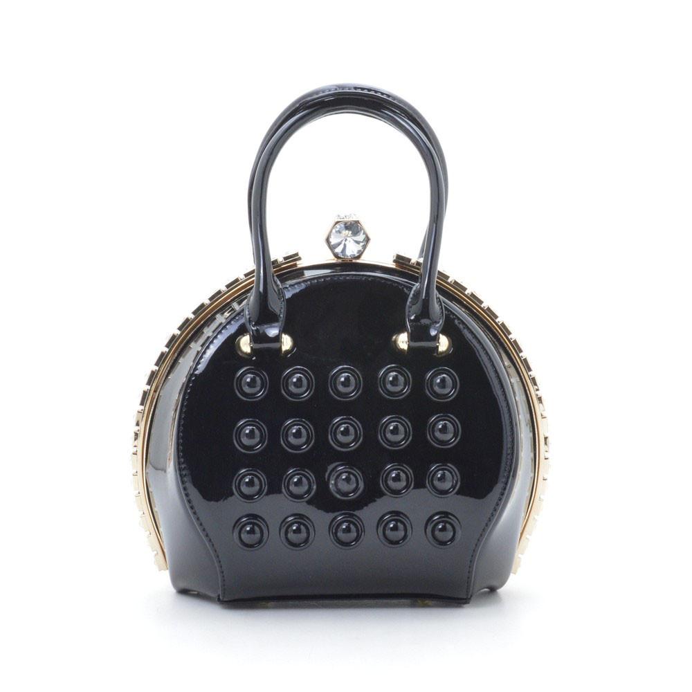 Шикарная женская каркасная сумка лаковая