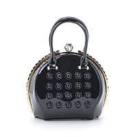 Шикарная женская каркасная сумка лаковая, фото 1