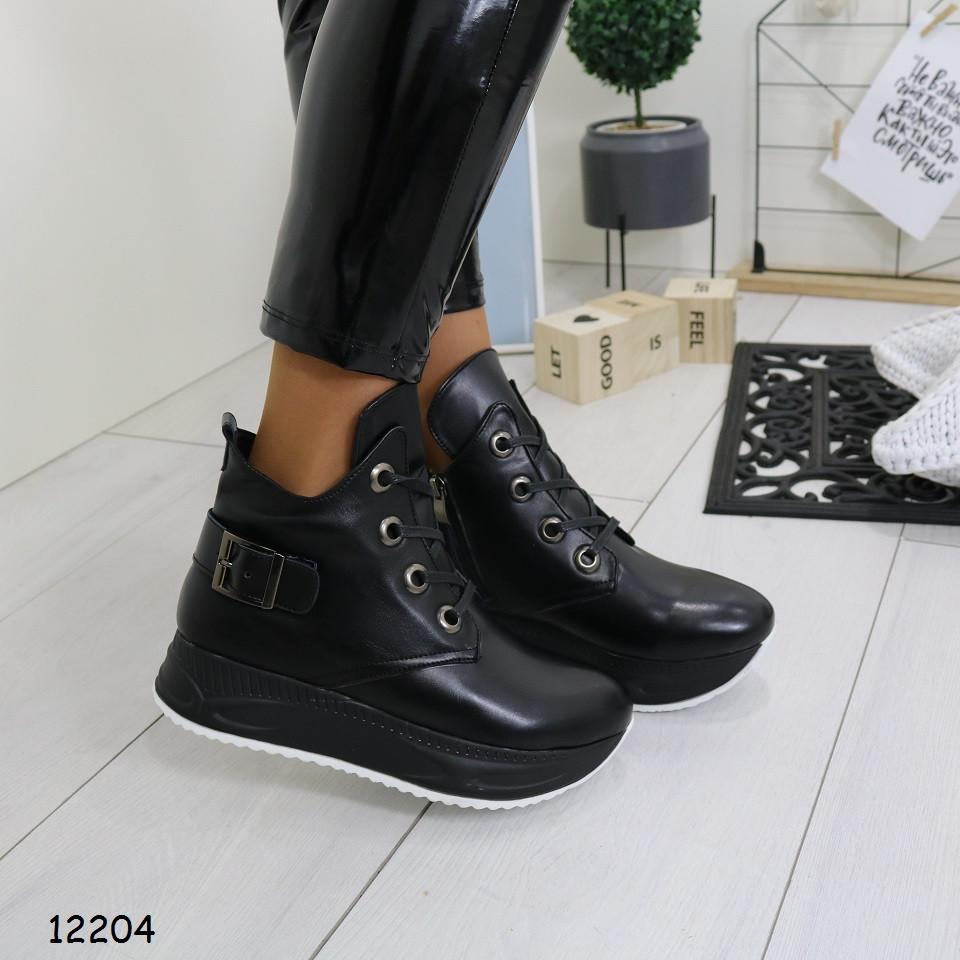 Черные ботинки женские в спортивном стиле зимние р. 36,  40