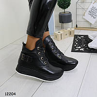 Черные ботинки женские в спортивном стиле зимние р. 36,  40, фото 1