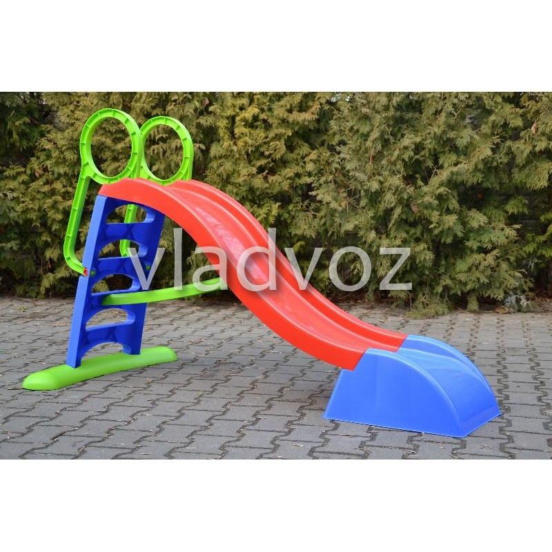 Детская горкаигровая пластиковая дитяча гірка для дома площадки улицы спуск дачи Mochtoys 180 см.