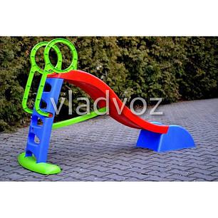 Детская горкаигровая пластиковая дитяча гірка для дома площадки улицы спуск дачи Mochtoys 180 см., фото 2