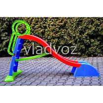 Детская горкаигровая пластиковая дитяча гірка для дома площадки улицы спуск дачи Mochtoys 180 см., фото 3