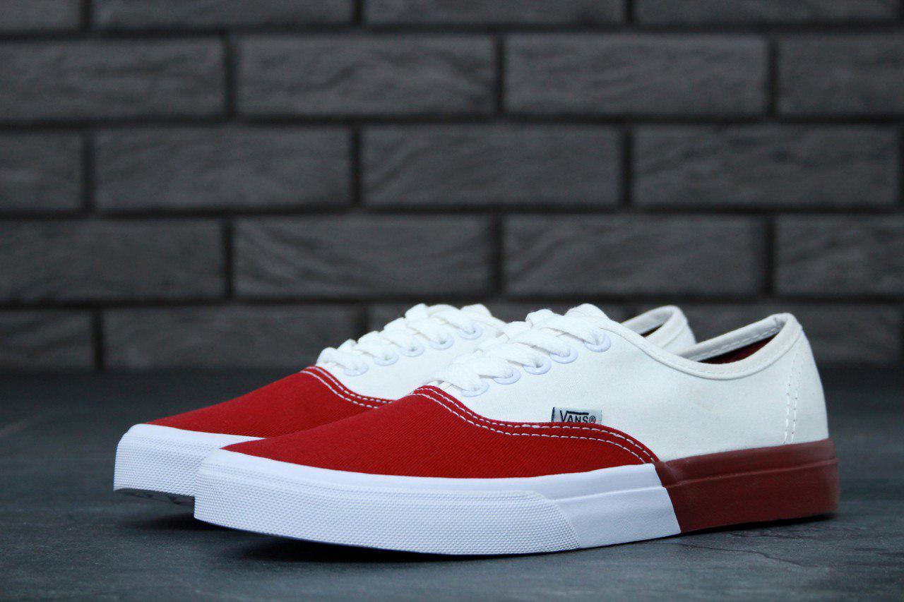 Кеды мужские Vans Authentic 31030 красно-белые