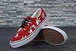 Кеды мужские Vans Vault Era LX OG Palm Leaf 31032 бело-красные, фото 5