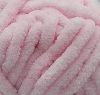 Пряжа велюровая Dolphin Big, цвет нежно розовый