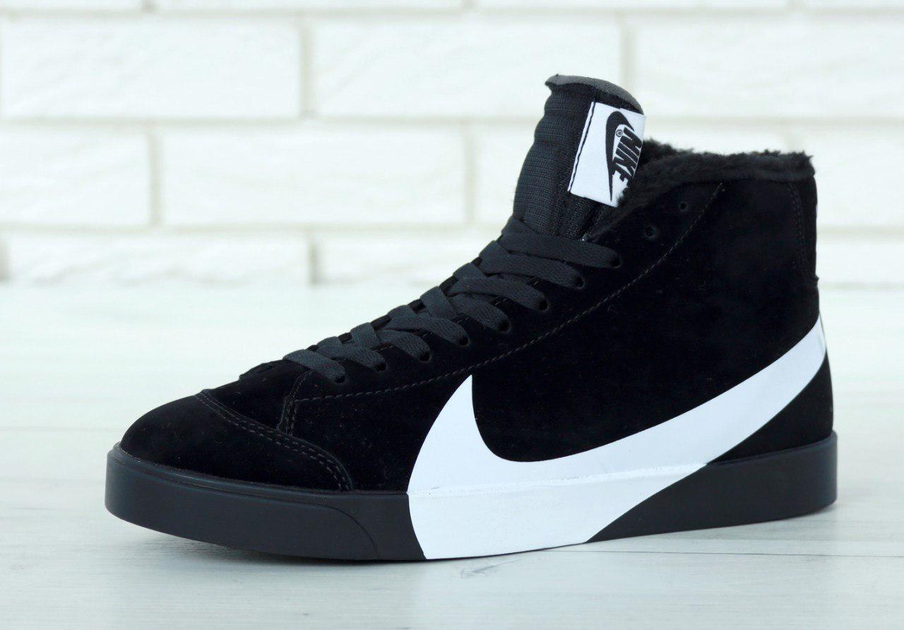 Кроссовки мужские Nike Blazer Winter 31008 черные зимние