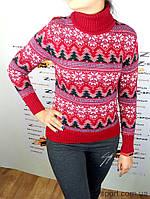 Женский свитер Gerekli B4645 красный Турция 42-44