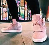 Кроссовки женские Adidas Tubular invader D5496 розовые теплые, фото 3