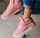 Кроссовки женские Adidas Tubular invader D5496 розовые теплые, фото 5
