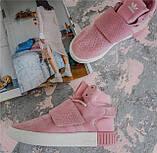 Кроссовки женские Adidas Tubular invader D5496 розовые теплые, фото 6