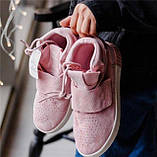 Кроссовки женские Adidas Tubular invader D5496 розовые теплые, фото 7