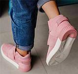 Кроссовки женские Adidas Tubular invader D5496 розовые теплые, фото 9