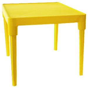 Стол пластиковый детский квадратный темно-желтый