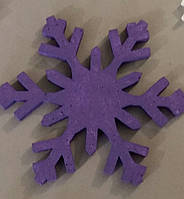 Снежинка из пенопласта с покраской толщина 1 см диаметр 15 см
