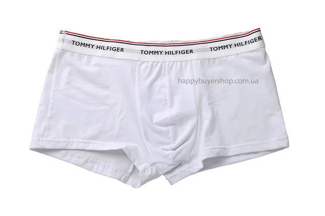 Мужские трусы боксёры Tommy Hilfiger (реплика) белый пояс белые, фото 2