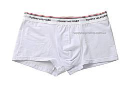 Мужские трусы боксёры Tommy Hilfiger с белым поясом белые