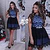 Платье модное кружевное красивое с пышной юбкой разные цвета Smas2937