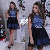 Платье модное кружевное красивое с пышной юбкой разные цвета Smas2937, фото 1