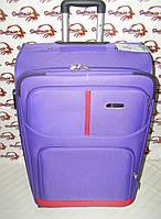Тканевый чемодан с металлическим каркасом на двух колесах FLY голубой (большой)