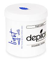 Белая сахарная паста Depilax White Exclusive Light 1200г, фото 1
