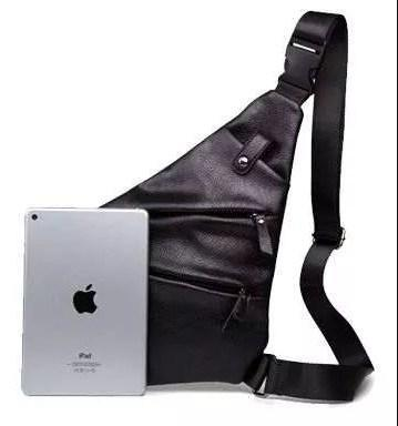 Мужская водонепроницаемая сумка Cross Body, эко кожа мужская, Черная