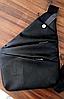 Мужская водонепроницаемая сумка Cross Body, эко кожа мужская, Черная, фото 8