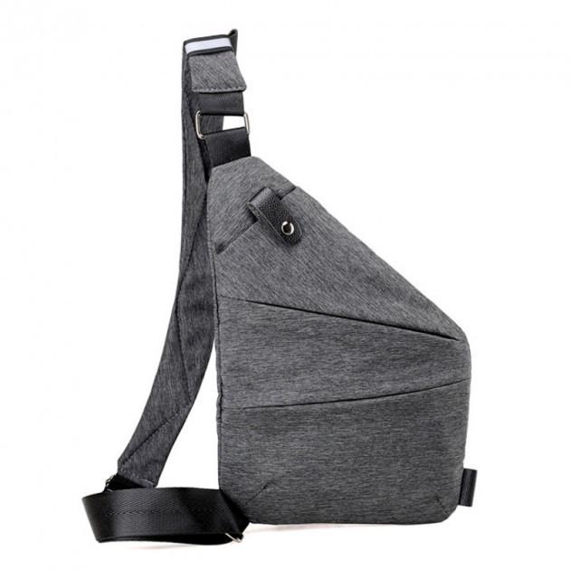 Мужская водонепроницаемая сумка Cross Body, Мессенджер, Антивор, Мужская барсетка на плечо,Серая
