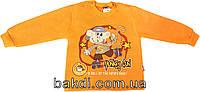 Кофта-толстовка Modax рост 98 байка оранжевый ТН-131