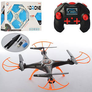 Квадрокоптер DH861-X5A (12шт) р/у,аккум,свет,USBзарядное,запасн.лоп,2цвета,в кор-ке,44,5-30-10см